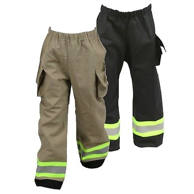 FIREFIGHTER Costume Toddler Pants Look Like Turnout Bunker Gear (One Pair) - Fireman Halloween Costumes Toddler