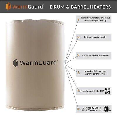 Warmguard Wg55f 55-gallon Insulated Full Coverage Drum Heater Fixed Temp 145 F