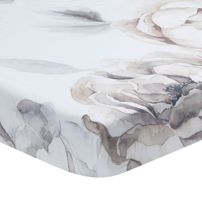 Lambs & Ivy Signature Watercolor Floral Organic Cotton Fitted Crib Sheet