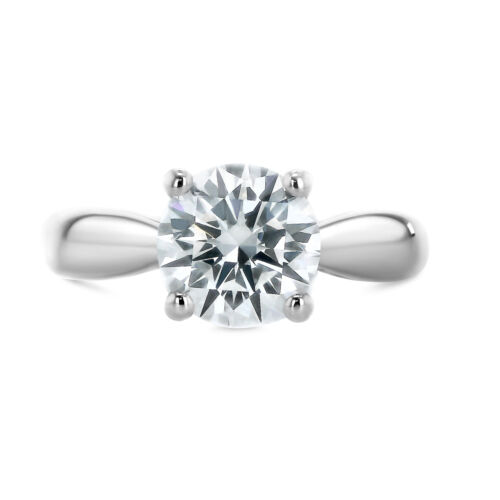 1.51 Carat Round shape E - SI1 Solitaire Diamond GIA Engagement Ring sizeable