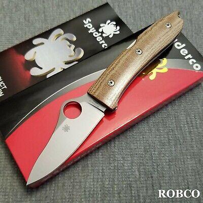 Spyderco / LionSteel SpyOpera M390 Satin Blade Brown Canvas Micarta C255CMP