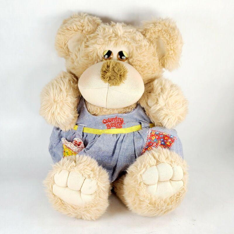 Vintage Cuddlin Country Bears Dixie Mae Plush Stuffed Animal Toy No Hat