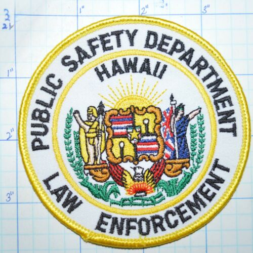 HAWAII PUBLIC SAFETY DEPARTMENT LAW ENFORCEMENT PATCH