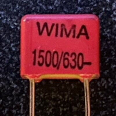 25 Pcs - Wima Fkp2 1500 Pf 1.5nf 630v 2.5 Pich5mm Polypropylene Capacitor