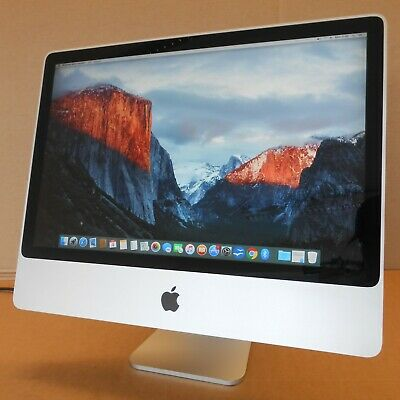 "Apple iMac 8,1 A1225 2008 24"" Core 2 Duo 3.06GHz 4GB RAM 500GB HDD OSX 10.11.6"