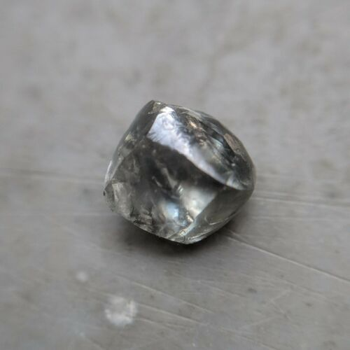 Engraving Light Blue Color 0.68 Carat VVS Clarity Genuine Natural Rough Diamond