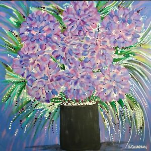 Hydrangeas- Painting on Gallery Wrapped Canvas