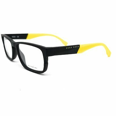 BOSS by Hugo Boss Eyeglasses 0917 1XE Matte Black Yellow Men 55x17x145