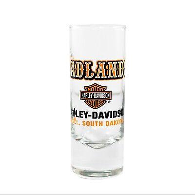 Badlands Harley-Davidson® Western Font Tall Shot Glass