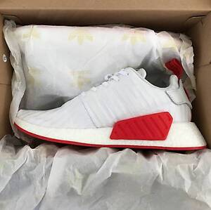 Adidas NMD_R2 PK White/Red Adelaide CBD Adelaide City Preview