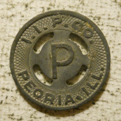 I. I. P. Company (Peoria, Illinois) transit token - IL690D