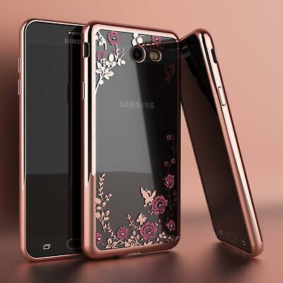 Samsung Galaxy J3 Luna Pro / J3 Emerge Luxury Crystal Bling TPU Clear Case Cover