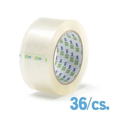 36 Rolls Carton Sealing Clear Packing Shipping Box Tape 2 X 110 Yards - Lux