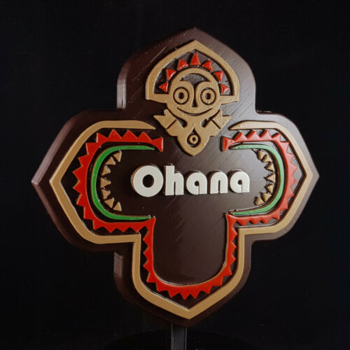 Polynesian Themed Longhouse Sign / Plaque - Ohana ( Disney Resort Inspired )