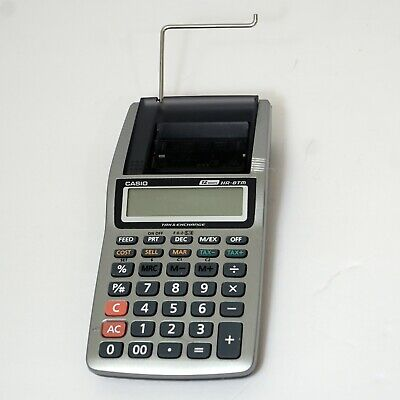 Casio HR-8TM Portable Printing Business Accounting Tax & Exchange Calculator