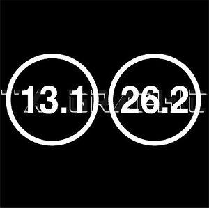 13 1 26 2 marathon sticker round decal runner running for 13 1 window sticker