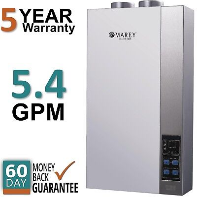 Refurbished Tankless Water Heater Natural Gas 5 4 Gpm Direct Vent Marey 16Etl