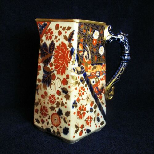 "Ridgeway Old Derby 8"" Imari Water Jug / Pitcher Victorian, circa 1880"
