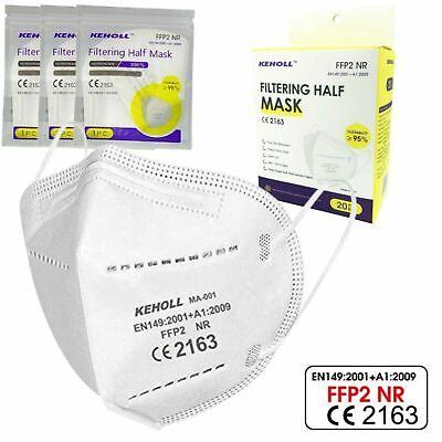 50 Stück FFP2 Mundschutz OP Masken CE2163 Schutzmaske Weiß Atemschutzmasken