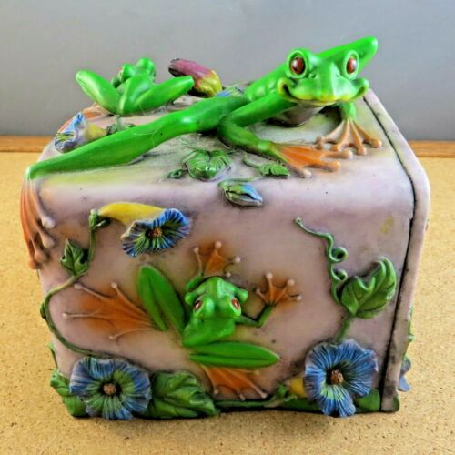 Whimsical Jive 2004 Frog Magic Puzzle Trinket Box Figurine James Israel Van Eps