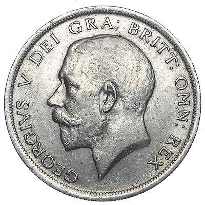 1915 HALFCROWN - GEORGE V BRITISH SILVER COIN - V NICE