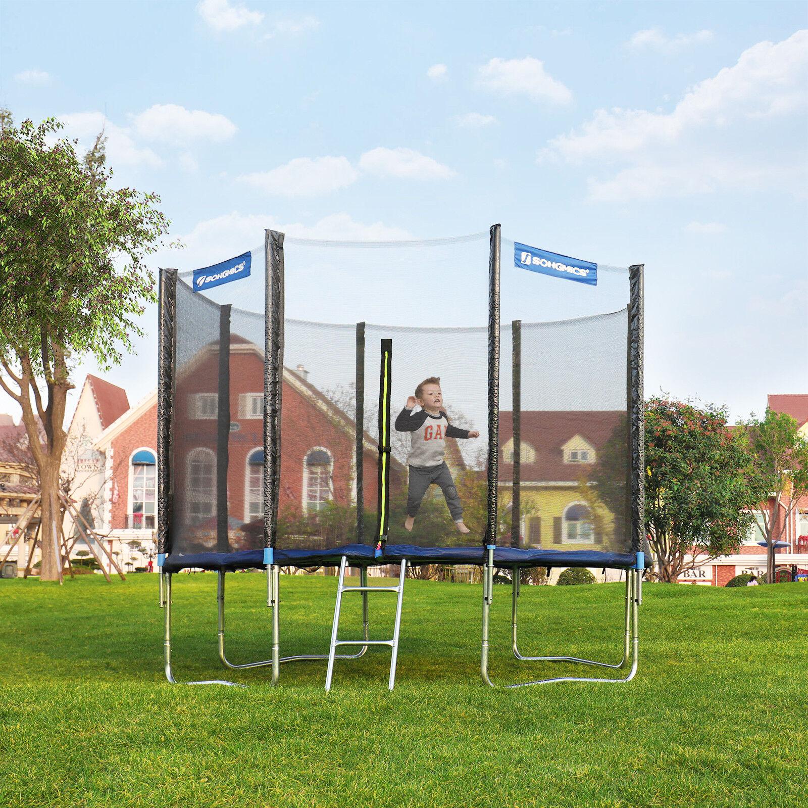 Trampolin Gartentrampolin Zubehör Netz Leiter randabdeckung SET Garten Outdoor
