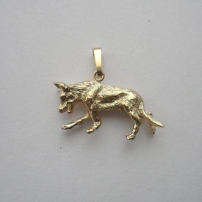 Anhänger Hund Malinois Deutscher Schäferhund Haustier Silber 925 gelb vergoldet