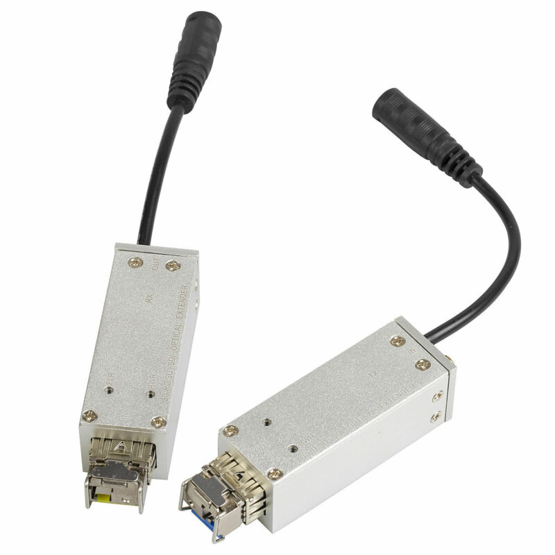 3G SDI to LC Fiber Optic Converter Mini BNC Video Portable Adapter 10KM 1080P60