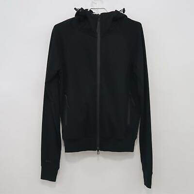 Siki IM Cross Hoodie Sweater Jacket Mens M Medium Black Full Zip Cotton