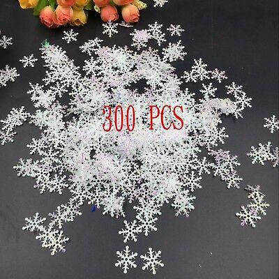 300pcs Wholesale Classic Shiny Snowflake Ornaments Christmas Tree Party Decor