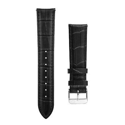 Eldon - Uhrenarmband Alligator Schwarz - 20mm