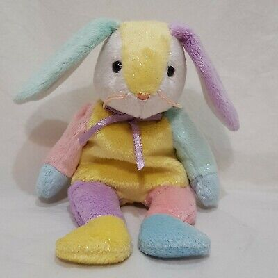 """Dippy Bunny Rabbit 2002 Ty Beanie Babies Plush Stuffed Animal 8"""" Yellow Tummy for sale  Shipping to India"""