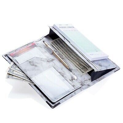 - Sonic Server 5x9 Double Magnetic Pocket Marble Server Book Organizer Waitress