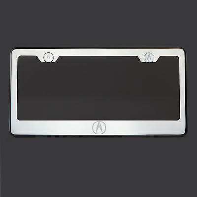 Mirror Chrome Acura Logo Laser Etched T304 Stainless Steel License Plate Frame 304 Stainless Steel Chrome Plated