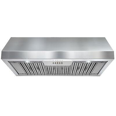 """36"""" Under Cabinet Stainless Steel Push Button Kitchen Range Hood"""