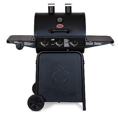 Char-Griller 3 Burner Grillin' Pro BBQ Steel 40,800 BTU Heat Propane Gas Grill