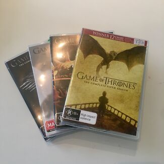 GAME OF THRONES DVDS - SEASONS 2, 3, 4 & 5