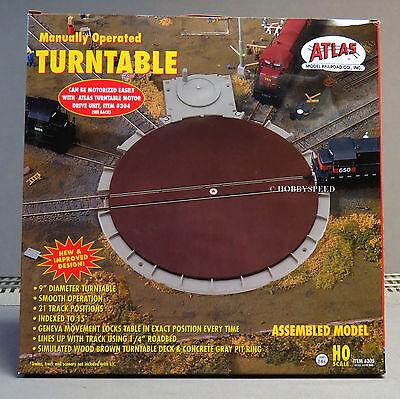 ATLAS HO SCALE ROUND HOUSE TURNTABLE gauge train engine turn table ATL305 NEW