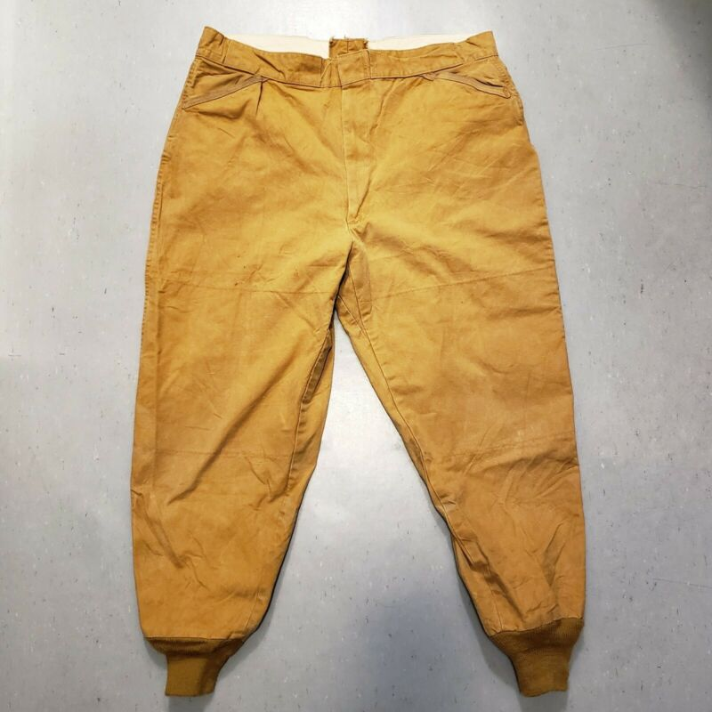 Vtg 40s 50s CUMBERLAND TAPATCO Cotton Canvas Hunting Pants Masland Fishing RARE