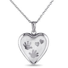 Amour Sterling Silver Heart Locket Necklace