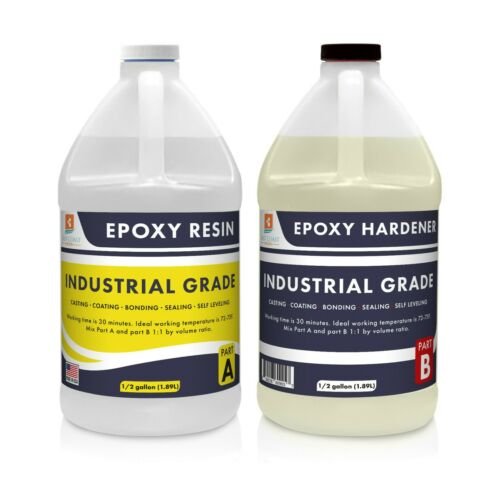 Epoxy Resin Industrial Grade 1 Gallon Kit | Easy to Use, Super Strong, Gloss
