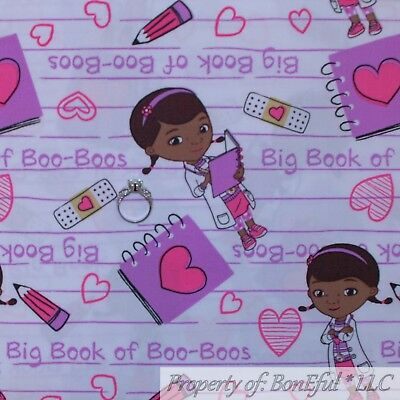 tton Quilt White Purple Pink Doc Mc Stuffins Dr Girl School (Dr. Stuffins)
