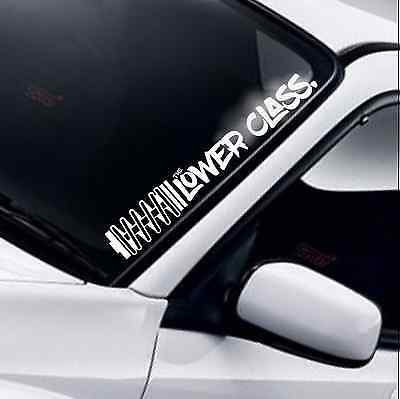 The Lower Class Coil Windscreen Sticker Drift JDM DUB Low Lowered Coilover Decal