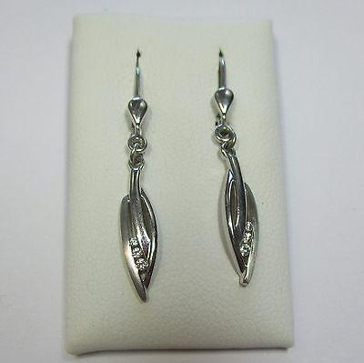 232 - Zarte Ohrringe mit Zirkonia aus 925 Silber  - 1769