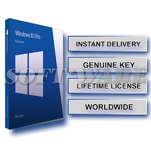 Windows 81 Pro Professional 32 64 Genuine Product Key