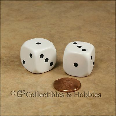 NEW Pair of Large 20mm Spotted D3 Six Sided 1 to 3 Twice Game Dice D&D RPG  for sale  Columbus