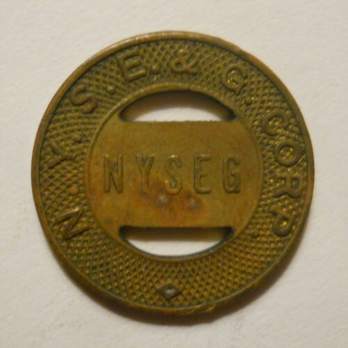 N. Y. S. E. & G. Corp. (Elmira, New York) school transit token - NY230G