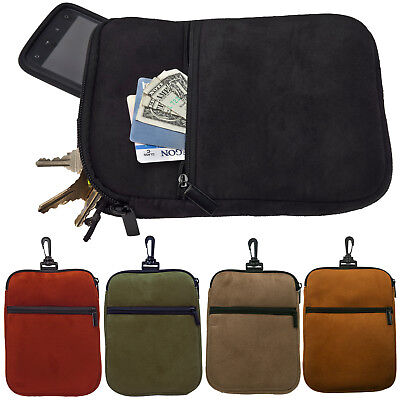 -  ProActive Sports Premium Suede Microfiber Golf Caddy Valuables Pouch with Clip
