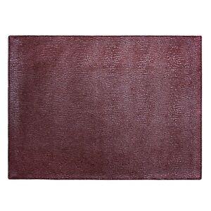 """Seneca Faux Leather Placemats. 11""""x17"""" Placemats Set of 4Machine Washable"""