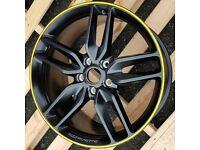 C5 /& Z06 Yellow//Black Corvette Steering Wheel Cover Euro-Style Two-Tone